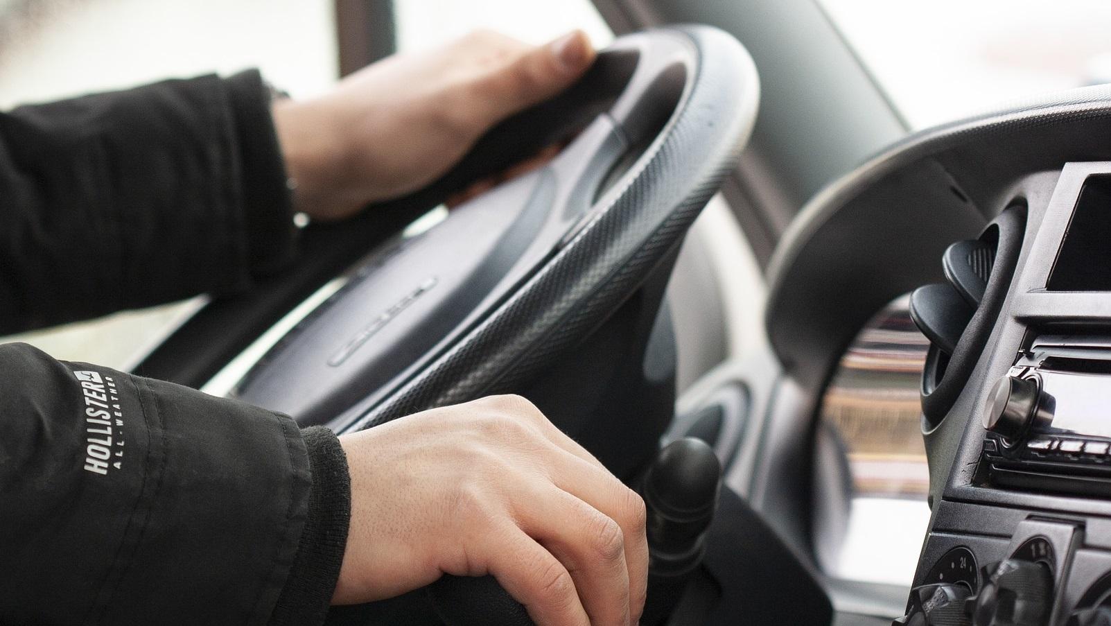 kierowca zawodowy w pracy